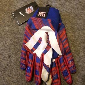 NWT Nike Stadium Lockup gloves NFL NY giants L lg